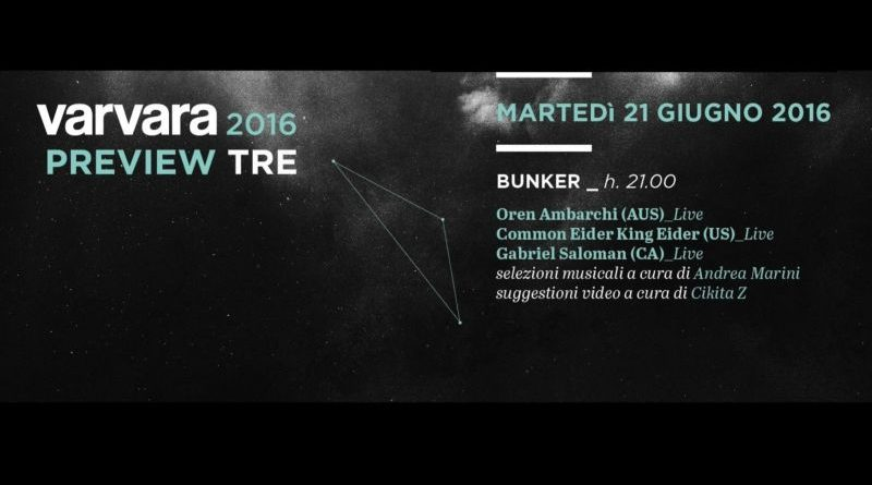 Varvara Festival Preview #2 @Bunker, Turin, 21/06/2016 Pay no mind to us, we're just a minor threat. 1