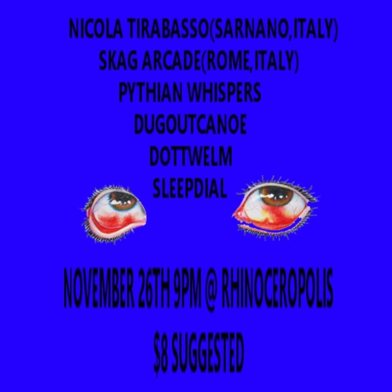 Nicola Tirabasso & Skag Arcade live at Rhinoceropolis [Denver, CO, USA] Pay no mind to us, we're just a minor threat. 3