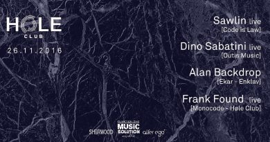 HØLE Club presents Dino Sabatini & Sawlin & Frank Found, Verona, 26/11/16 Pay no mind to us, we're just a minor threat. 2