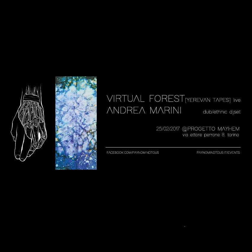 Virtual Forest LIVE + Andrea Marini DJSET @ Progetto Mayhem | 25/02/17 Pay no mind to us, we're just a minor threat. 2