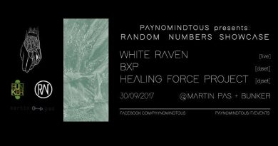 Random Numbers Showcase @Martin Pas Synth Shop & Bunker | 30/09/17 | PAYNOMINDTOUS.IT 2