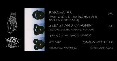 Barnacles [Matteo Uggeri] + Sebastiano Carghini @Magazzino Sul Po | 20/10/17 | PAYNOMINDTOUS.IT 3